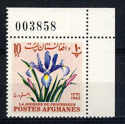 AFGHANISTAN - 1964 Mi.863A Corner Example with Sheet Number Neuf / Mint **(*)