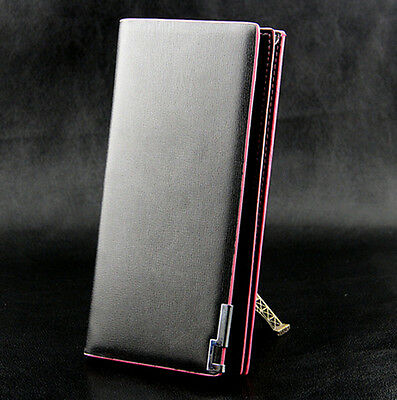 Women Business Long Leather Wallet Bifold Clutch Purse Credit Card Holder Coin