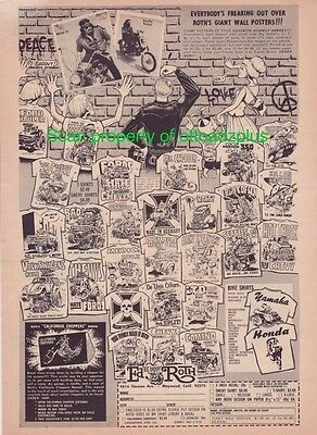 1967 Ed Roth - Big Daddy Roth - Everybody's Freaking out over Giant Posters ad!