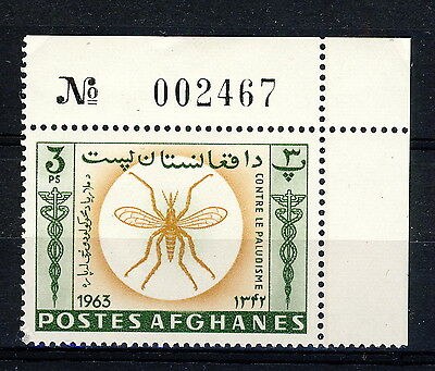 AFGHANISTAN - 1964 Mi.897A Corner Example with Sheet Number Neuf / Mint **(*)