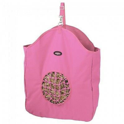 Tough 1 Pink hay bag slow feed tote with poly net horse tack equine