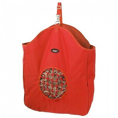 Tough 1 RED hay bag slow feed tote with poly net horse tack equine 72-1827