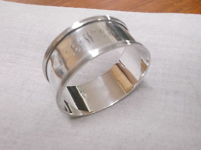 A  Vintage  Sterling Silver   Napkin Ring   Sheffield  1923