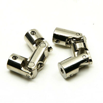 4*4/5*5/6*6mm Universal Joint Coupling Shaft Coupler Motor Connector Boat Car x2