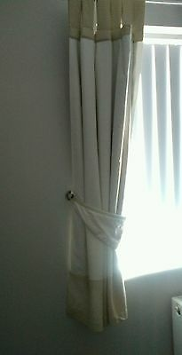 Nursery/child tab top curtains and tie backs plus matching light shade