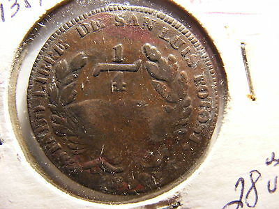 Mexico 1859 1/4 Real, KM#359, VF (For Issue)