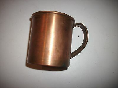 Vintage Solid Copper Mug Signed Made In Utah Quality Made Hand Riveted Handle