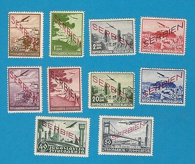 WWII Serbia no. 16-25 complete