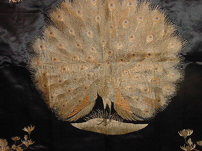 GREAT ANTIQUE CHINESE SILK EMBROIDED panel very fine! ***HG***