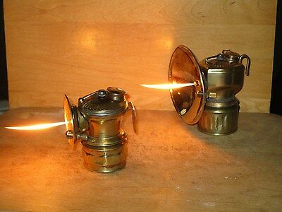 Miners AUTO-LITE & JUSTRITE CARBIDE LAMPS-WORKING!!