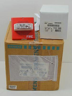 NEW (8) Siemens Fire Alarm Systems / Detectors Horn Strobe 500-636051