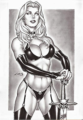 Lady Death By Carlos Augusto -Print Art, Copying, Reproduction