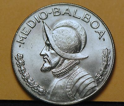 Panama, 1973 1/2 Balboa, About Uncirculated, No Reserve,                   10gcm