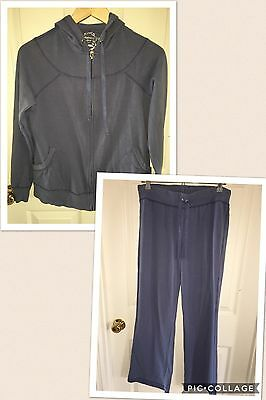 Used Motherhood Maternity Sport Small S Distressed Purple Track Suit