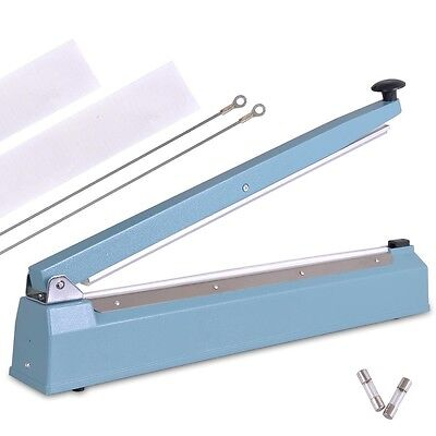 "20"" Hand Sealer Impulse Heat Manual Seal Machine Plastic Poly Bag Closer Kit"