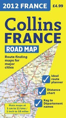 2012 Collins France Road Map (International Road Atlases), Collins UK Book The