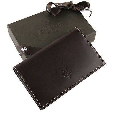 Patek Philippe Luxury Brown Leather Business Card Holder Very Rare 2017