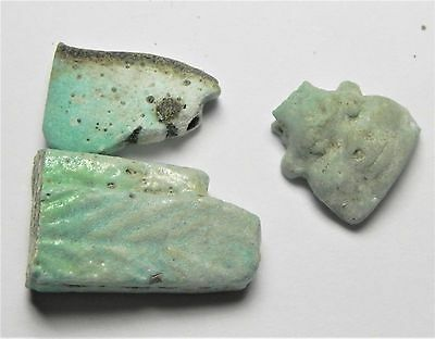 ZURQIEH - af2156- ANCIENT EGYPT. FAIENCE LOT OF 3 AMULETS. 600 - 300 B