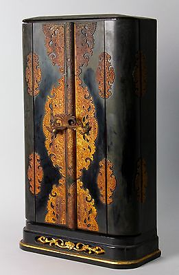 Antique Buddhist portable shrine , Zushi.  19 th century I47