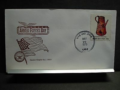 USS IWO JIMA LPH-2 Naval Cover 1979 ARMED FORCES DAY Cachet