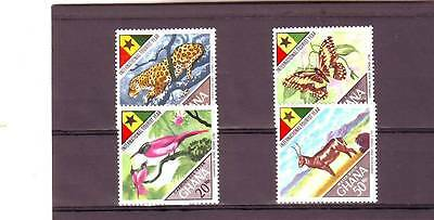 a109 - GHANA - SG492-495 MNH 1967 INTERNATIONAL TOURIST YEAR