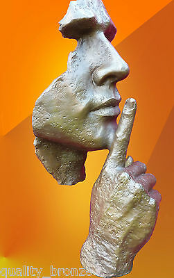 Hot Cast Bronze Statue, Contemporary Art Mask Sculpture Modern Face