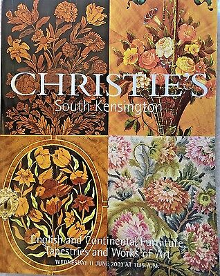 CHRISTIES Auction Catalog 6/11/2003 ENGLISH/CONTINENTAL FURNITURE ART TAPESTRIES