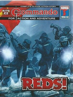Reds,commando For Action And Adventure,no.4749,war Comic,2014