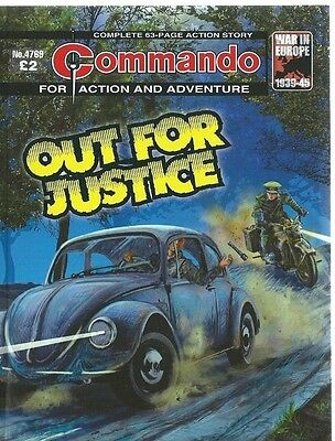 Out For Justice,commando For Action And Adventure,no.4769,war Comic,2014