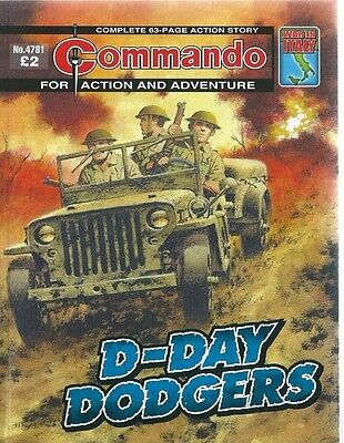 D-Day Dodgers,commando For Action And Adventure,no.4781,war Comic,2015