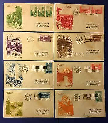 Us First Day Covers 1934 National Parks Issues Set