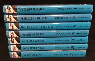 Lot of 7 HARDY BOYS BOOKS Flashlight Series 1 2 3 4 17 56 61 Glossy 2005
