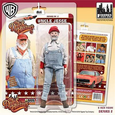Dukes Of Hazzard Series 2; Uncle Jessie,8 Inch Action Figure, Figures Toy Co Mip