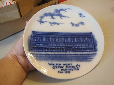 Antique 1907 Stein Bros. Co. Hastings, Neb. Advertising Plate