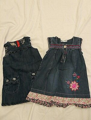 baby girls denim dress bundle age 12-18m by next and m&co
