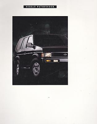 1993  Nissan  Pathfinder Original Factory  Prestige Sales Brochure  24 Pages