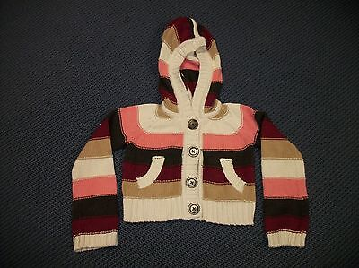 New Girls Gap Kids Hooded Hoodie Sweater Small Size S Small 6 / 7 Nwt Pink Brown