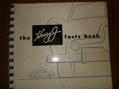 The Henry J Facts Book 104 Pages 1951  Kaiser - Frazer