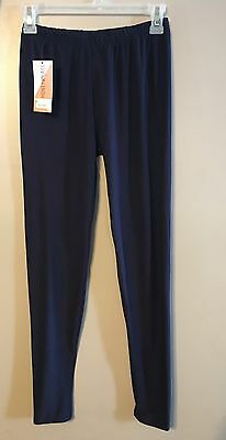 Honey And & Lace Solid Navy Blue One Size Buttery Soft Leggings NWT