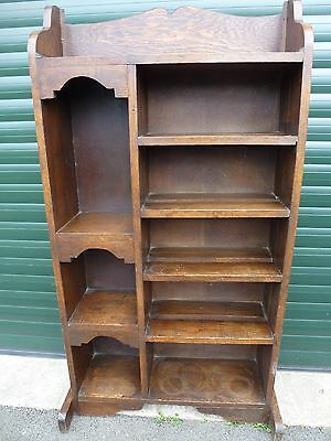 Victorian Oak Bookcase -  Display Unit  - Gothic Church Library Cabinet