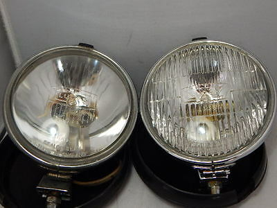 2 x LUCAS LR9 FT/LR6/9 SPOT FOG LAMP WITH COVER ~ CLASSIC CAR