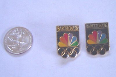 1992 Barcelona USA Olympic Pins Button Lapel Pinback Lot of 2