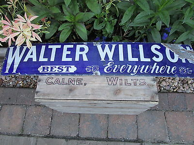 Rare vintage 1914 Walter Willson enamel shop Sign nice condition for age clean