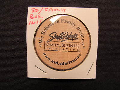 South Dakota Wooden Nickel token - S.D. Family Business Initiative Wooden Coin