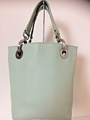 Hobo International Pale Minty Green Leather Mini Tote Purse Bag