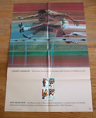 Us Post Office Stamp Poster Olympic Golden Moment And Momento