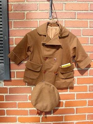 Vintage Child's Db Coat Hat 1936 Boy Scout Diary Mint W/ Written Entries Medals