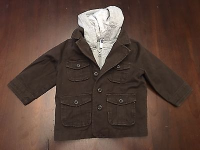 BABY GAP Boys Jacket/Hoodie Size 18-24 Months- Preowned
