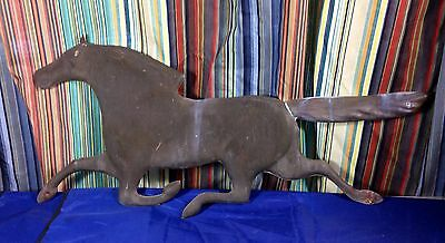 Vintage Copper Running Weathervane Horse