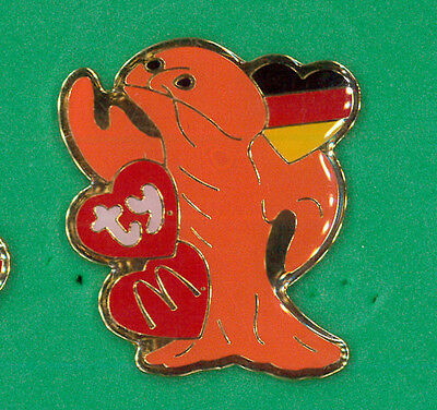McDonalds restaurant pin - lobster Germany - Ty beanie collector badge